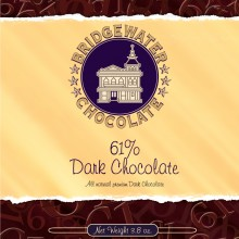 Solid 61% Dark Chocolate Bar