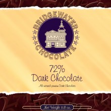 Solid 72% Dark Chocolate Bar