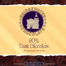 Solid 80% Dark Chocolate Bar